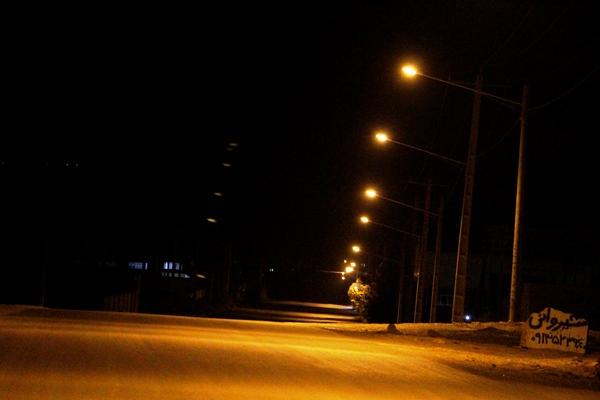 تامین روشنایی بلوار شهرک صنعتی