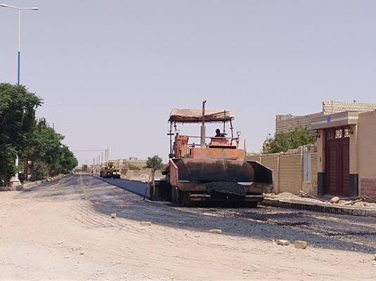 تکمیل عملیات آسفالت بخشی از بلوار امام رضا(ع)
